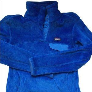 Royal Blue Resnap Fleece Patagonia Pullover